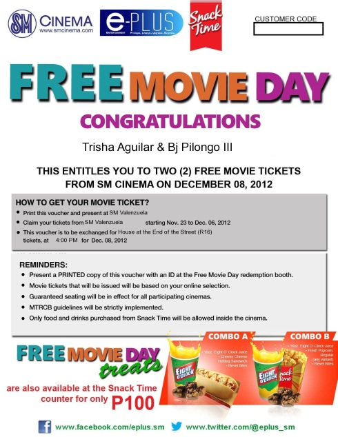SM CINEMA FREE MOVIE DAY DEC8